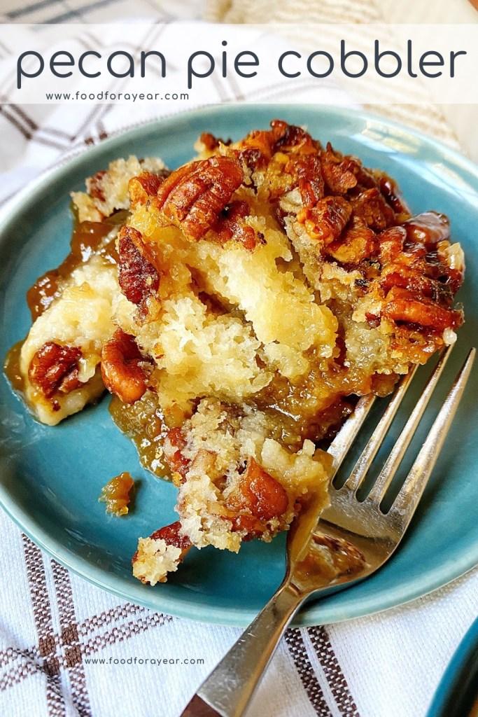 pinable pecan pie cobbler image