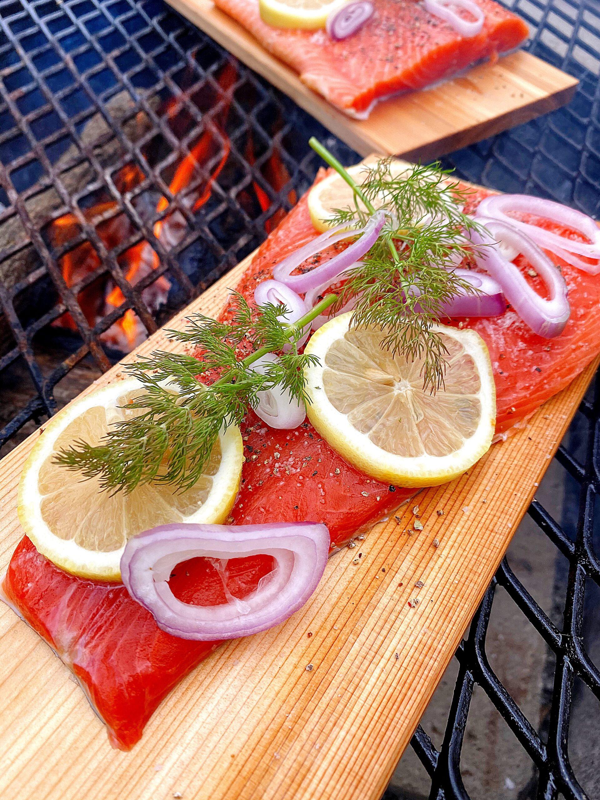 Grilled Cedar Plank Steelhead Trout