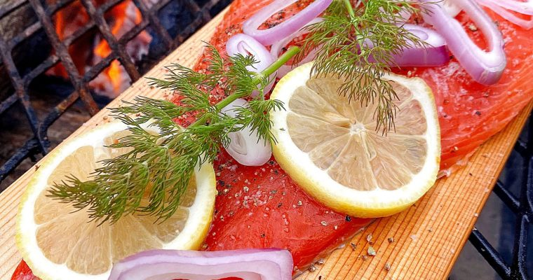 Grilled Cedar Plank Steelhead Trout