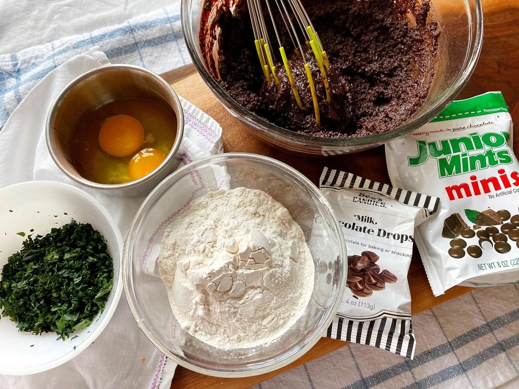 all the brownie ingredients