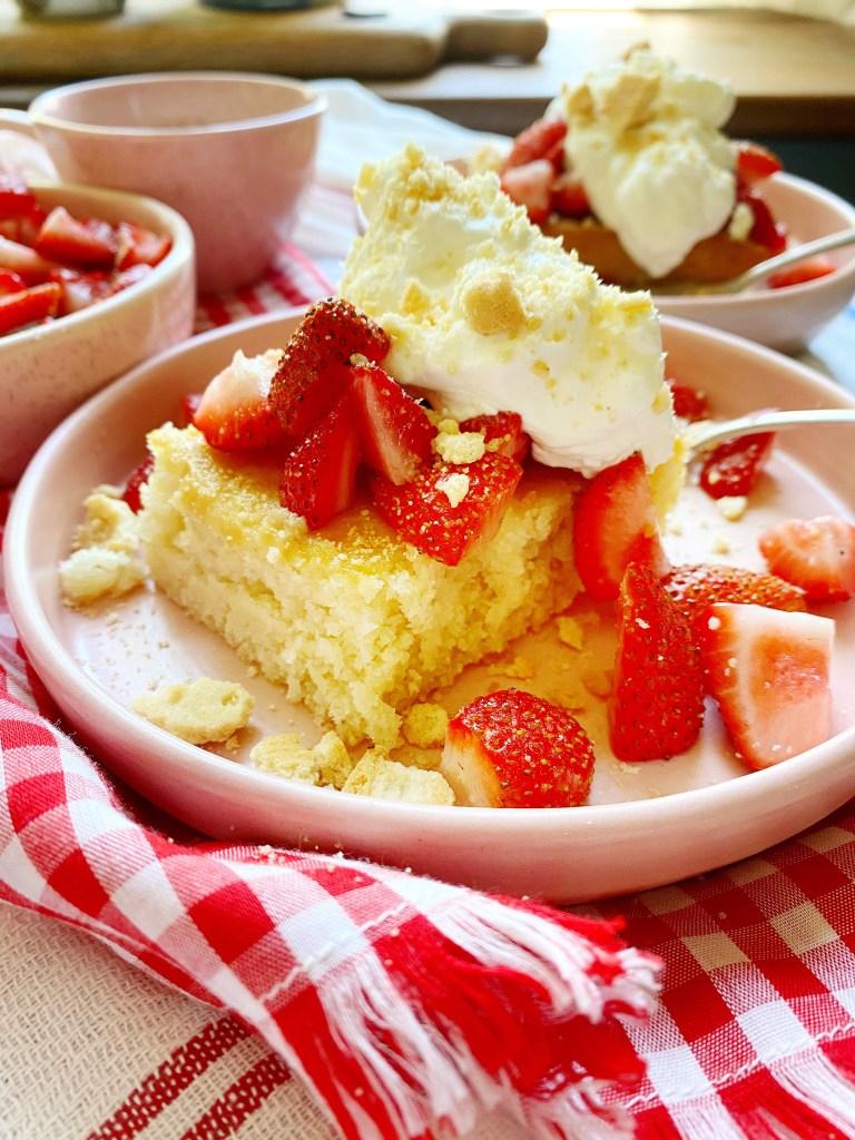 long served strawberry cake