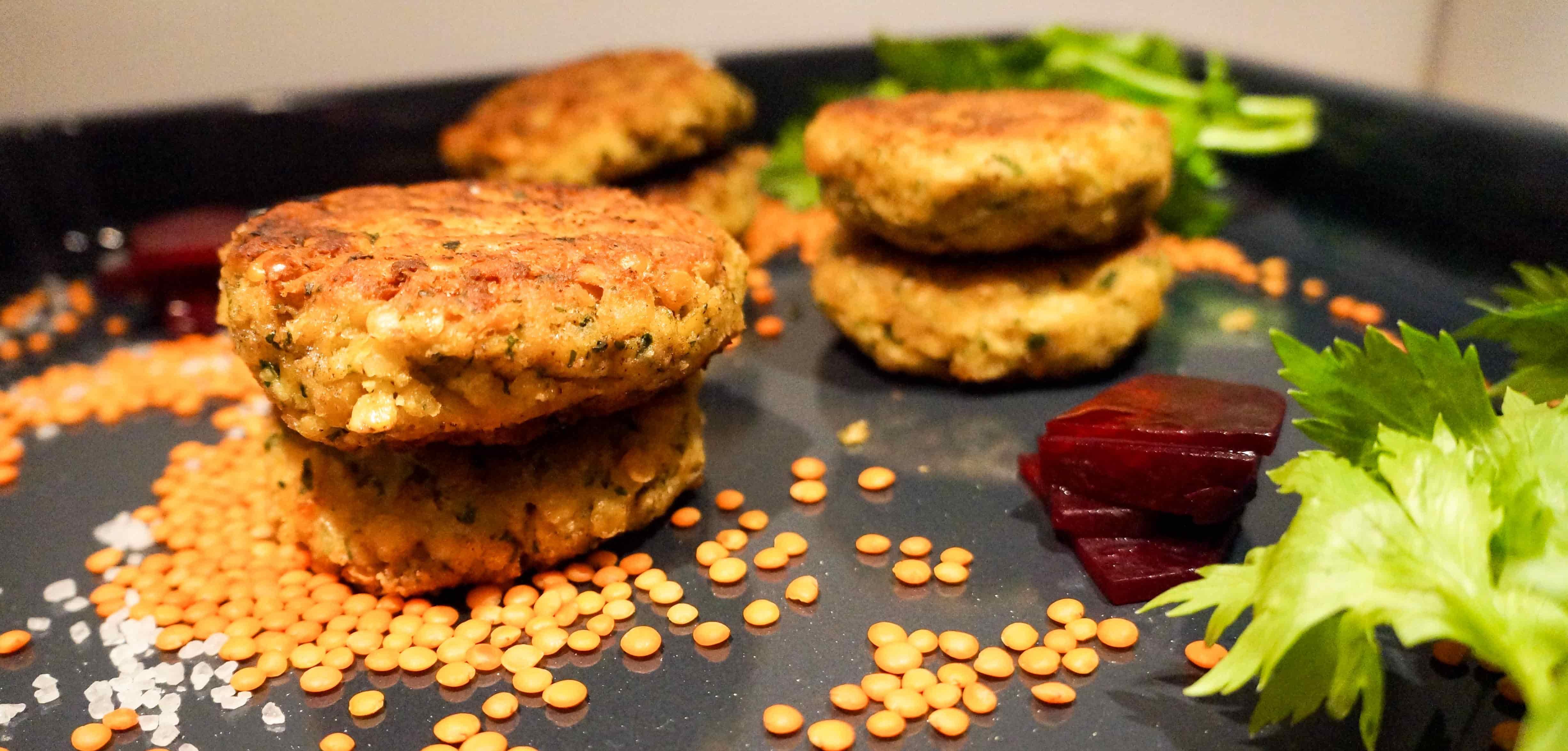 Linsen Curry Bratlinge - Veggie Laibchen - FoodForFamily
