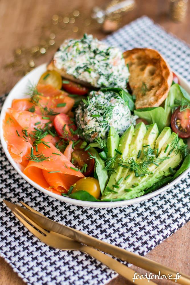 Que Manger Avec Du Saumon : manger, saumon, Assiette, Complète, Noël, Saumon, Fumé,, Épinards,, Chèvre, Avocat