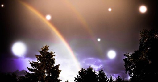 Photo by Miniperlum - 2 Rainbows, dreamy - Photo by Miniperlum