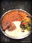 Thali...Nadru, Haak and Rajma