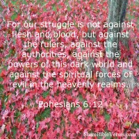 Where does our struggles come from, in life?-Ephesian 6:12