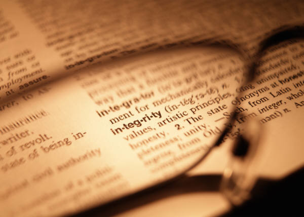Food For Thought - Integrity - Dictionary
