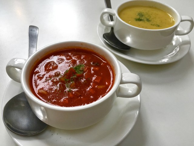 Seafood Chowder | Minestrone Soup | Simply Green Salad | Food For Thought