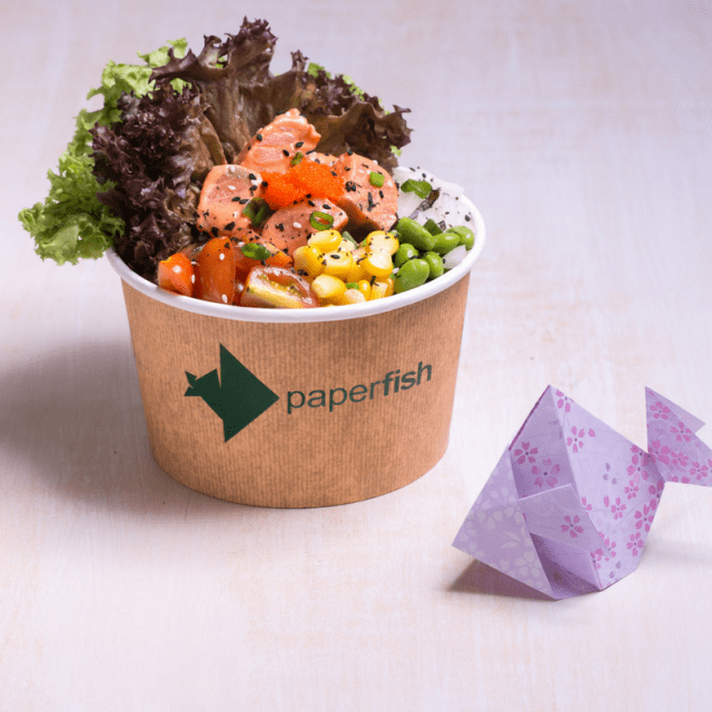 Umami Shoyu Salmon Poke Bowl | Paperfish | Tiffin Throwdown | Food For Thought