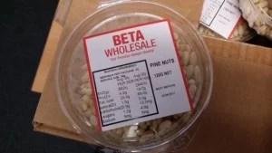 pine nut or peanut food fraud mislabelling