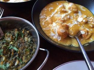 Dinner: Chicken Passanda and Sag Paneer - Passage to India, Stony Stratford