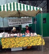A very wet Balham farmers market