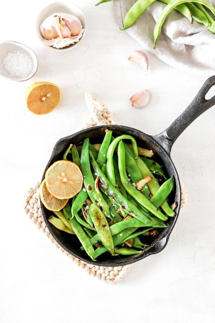 Garlic Fried Runner Beans