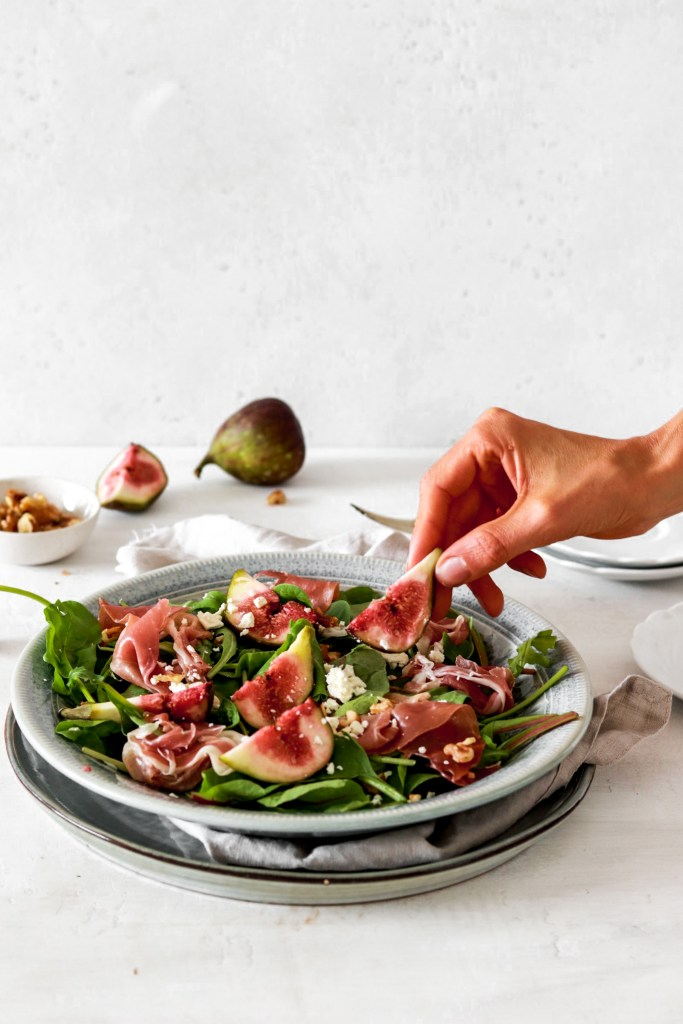 Fresh Fig, Prosciutto & Goat Cheese Salad - tasting