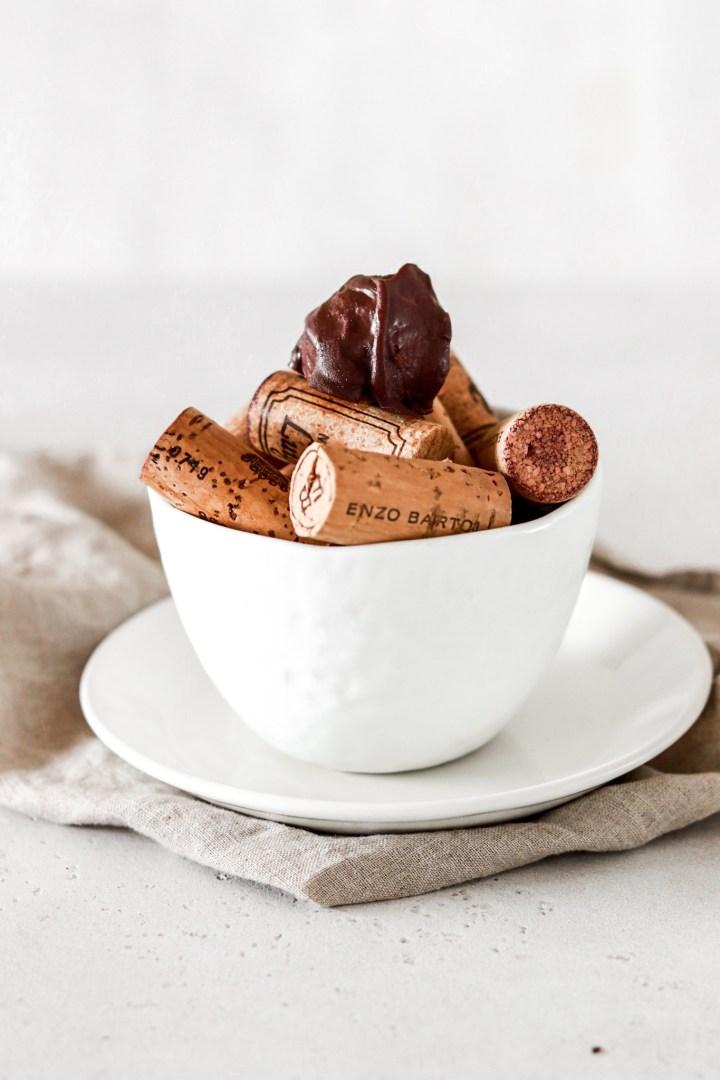 Red Wine Chocolate Truffles (Vegan, Gluten & Sugar Free)