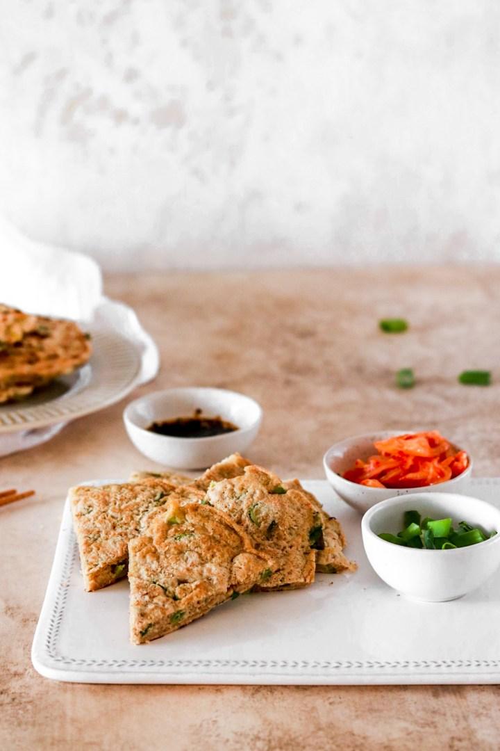 Pajeon – Korean Pancakes (Vegan & Gluten Free)