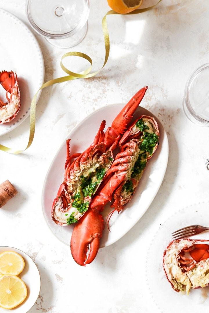Parsley Gratinated Lobster