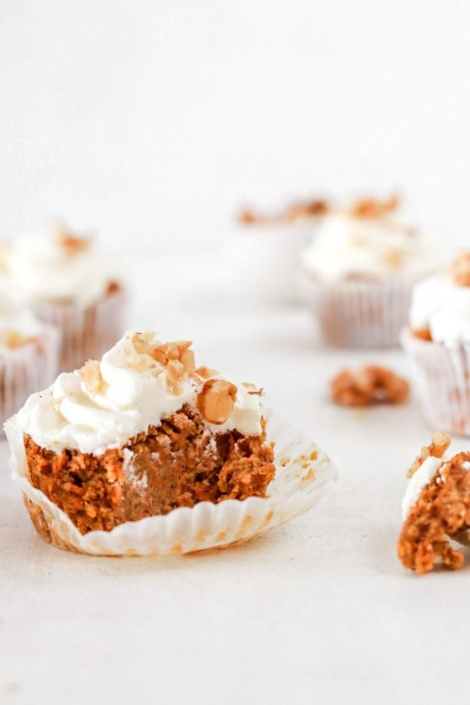 Vegan Carrot Cupcakes - Inside
