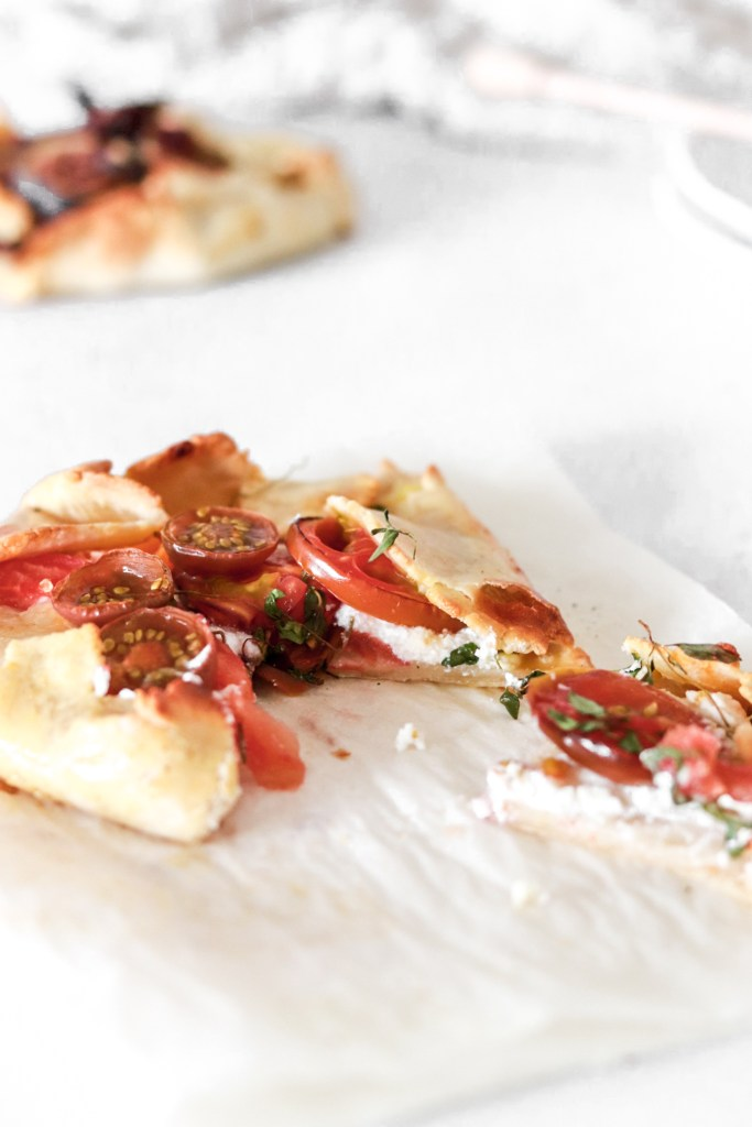 Italian Stye Galette with Ricotta and Tomatoes - From from inside