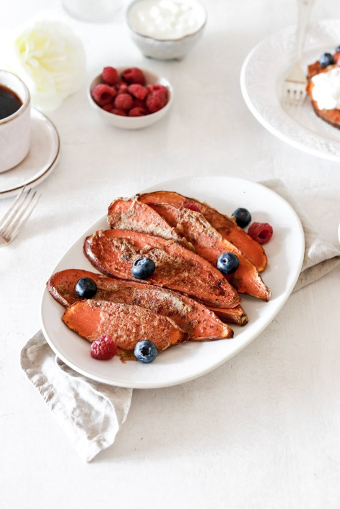 Sweet Potato French Toast Gluten Sugar Grain Free From Front