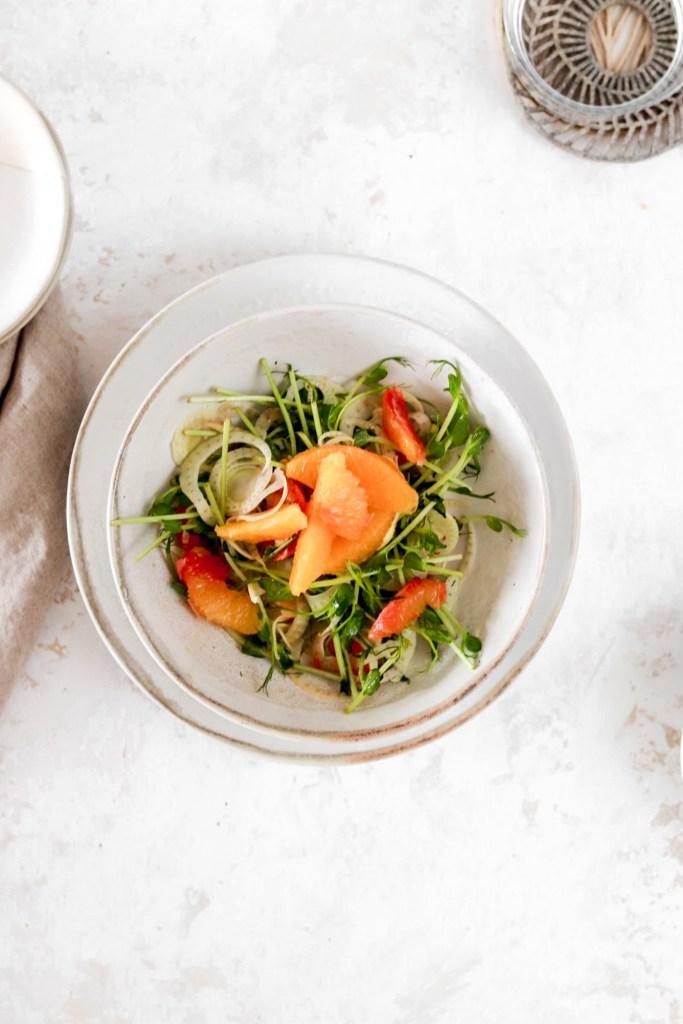 Orange & Fennel Salad From Above