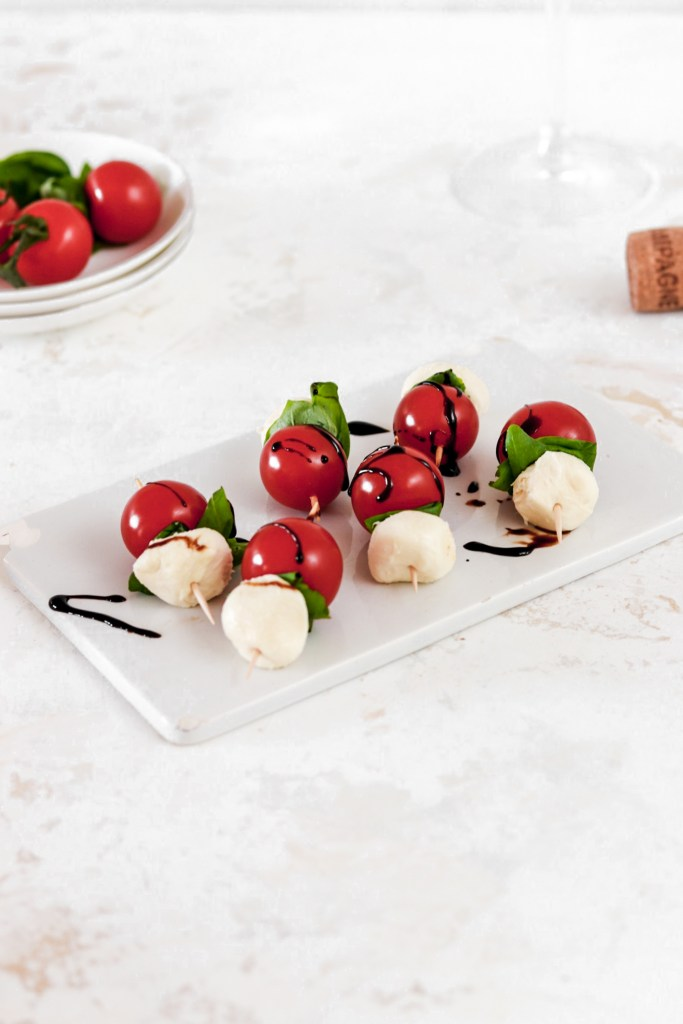 Caprese Bites (Vegetarian, Gluten Free, Low Carb) From Front