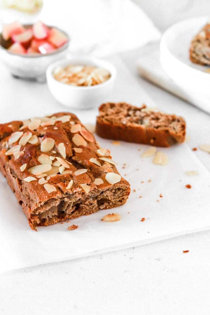 Rhubarb & Cardamom Cake (Gluten, Sugar & Oil Free)