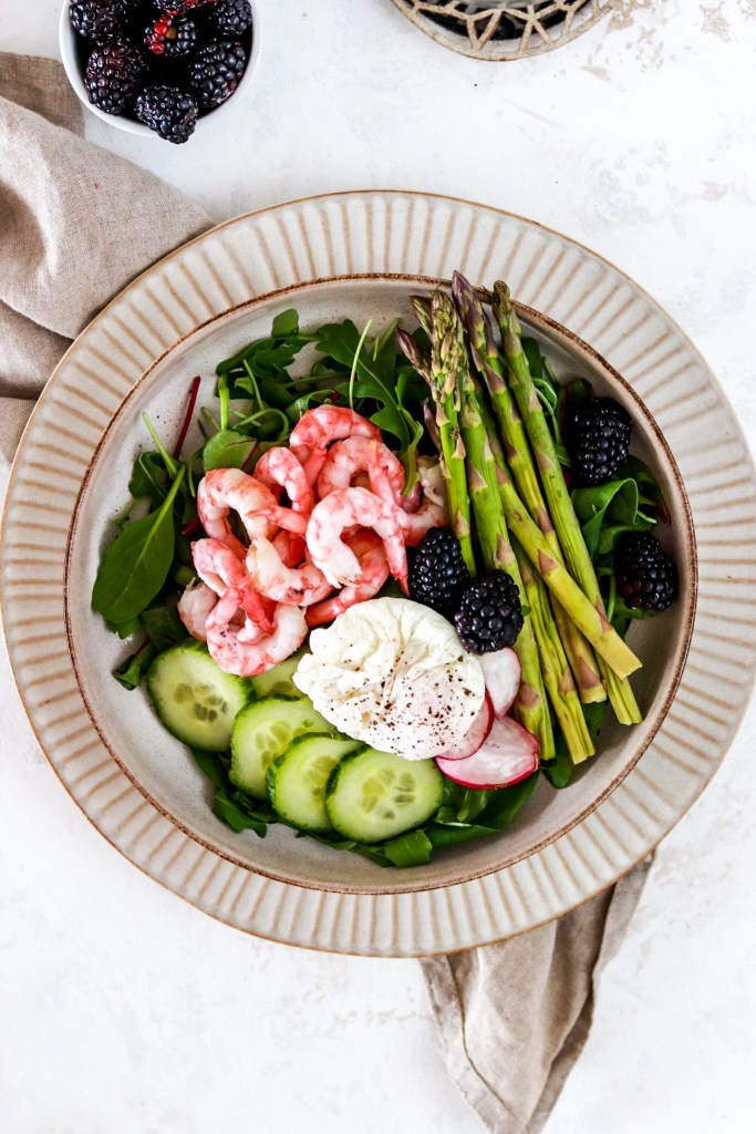 Shrimp Salad (Gluten, Grain Free & Low Carb) From Above