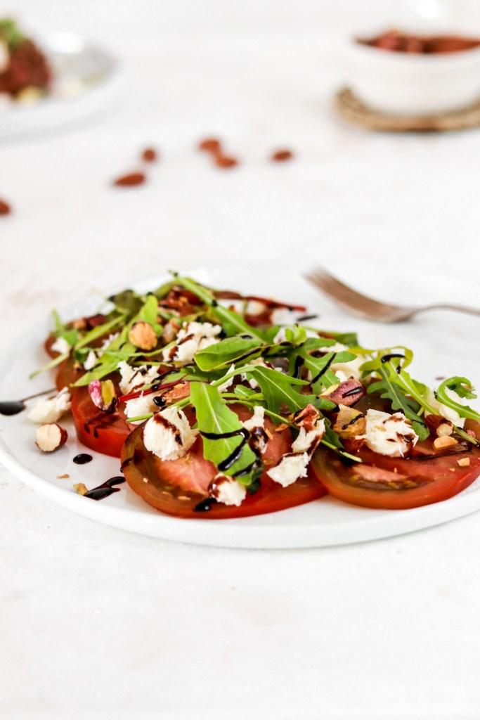 Tomato & Mozzarella Salad From Front
