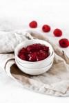 Raspberry Chia Jam (Vegan & Sugar Free) In Bowl