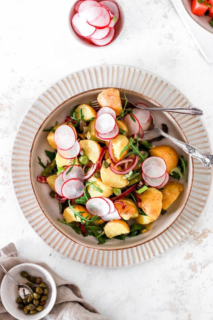 Potato Salad with Dijon Vinaigrette (Vegan, Gluten, Dairy & Oil Free)