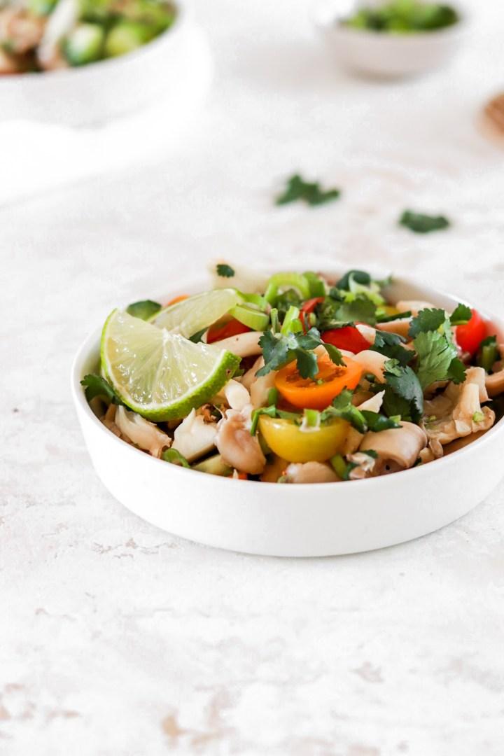 Oyster Mushroom Ceviche (Vegan, Gluten, Grain, Oil Free & Low Carb)