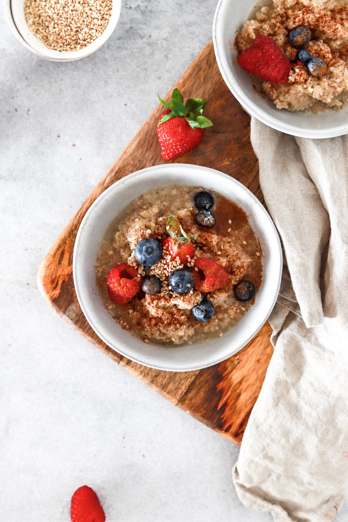 Vanilla Cauliflower Porridge (Vegan, Gluten, Grain, Sugar Free & Low Carb) From Above