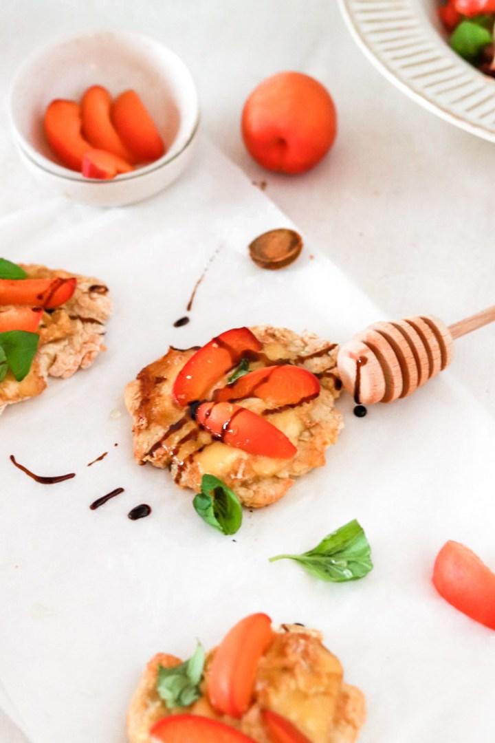 Mini Pizzas with Apricots & Taleggio (Gluten Free)