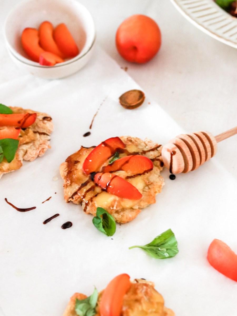 Mini Pizzas with Apricots & Taleggio (Gluten Free) From Front