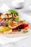 Halloumi Tacos (Vegetarian, Gluten & Grain Free) Close Up
