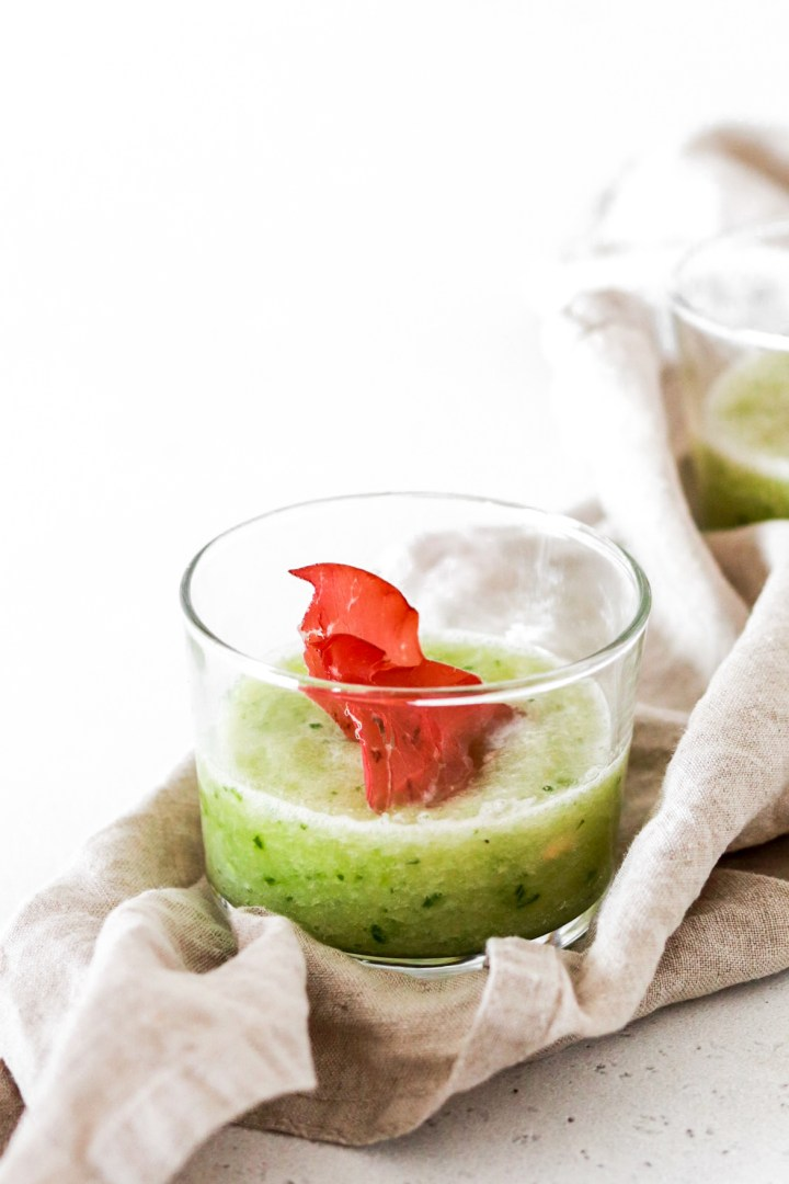 Chilled Galia Melon Soup (Gluten, Grain, Oil Free & Low Carb) From Front
