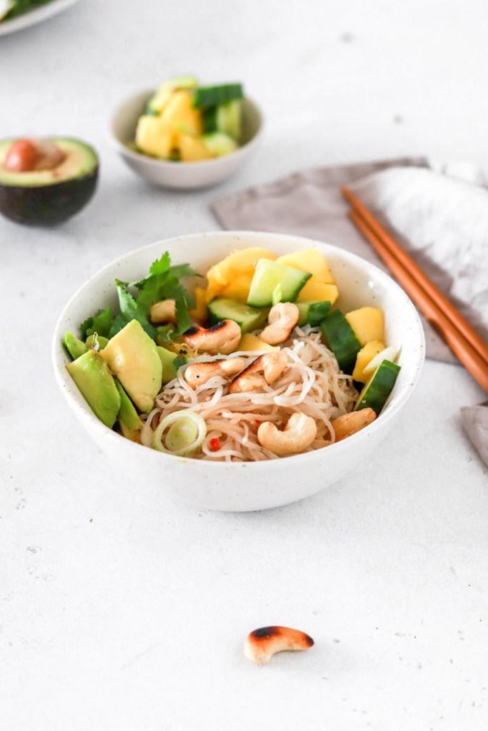 Five Minute Spicy Tahini Shirataki Noodles (Vegan, Gluten, Grain Free & Low Carb) Close Up