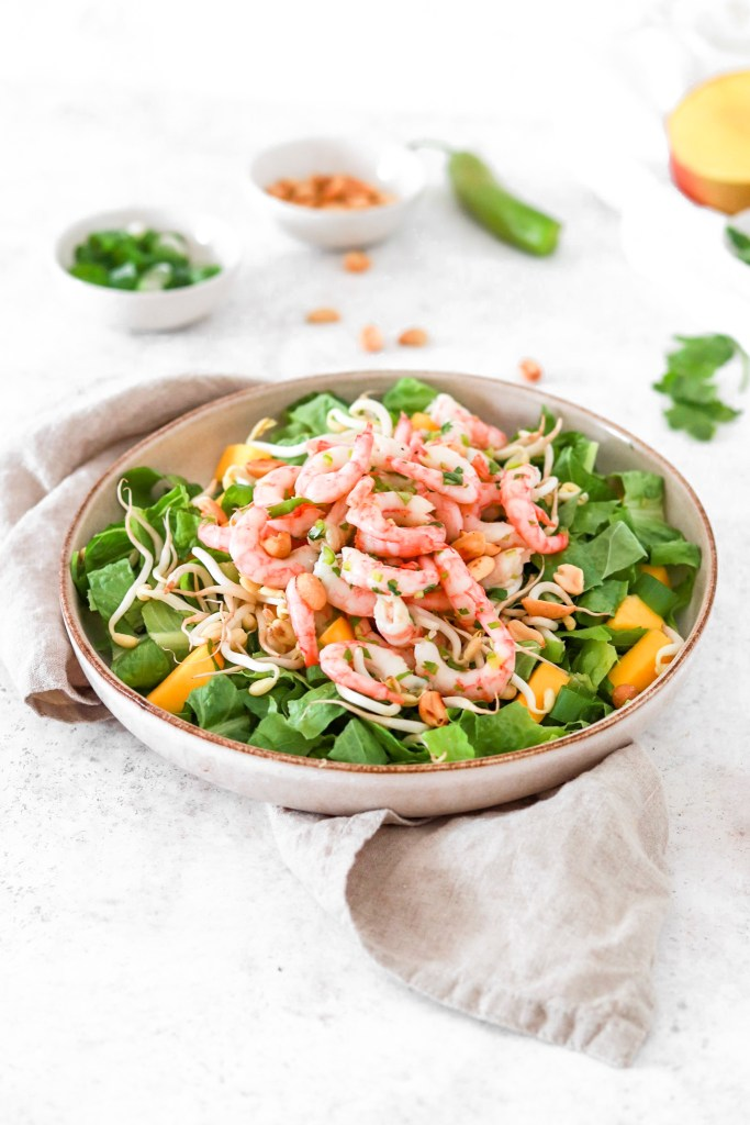 Spicy Shrimp Salad (Gluten, Grain Free & Low Carb) From Front