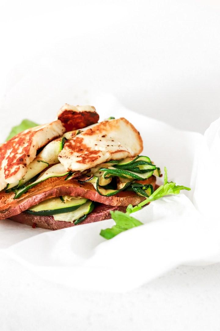 Halloumi & Sweet Potato Stack (Vegetarian, Gluten & Grain Free)