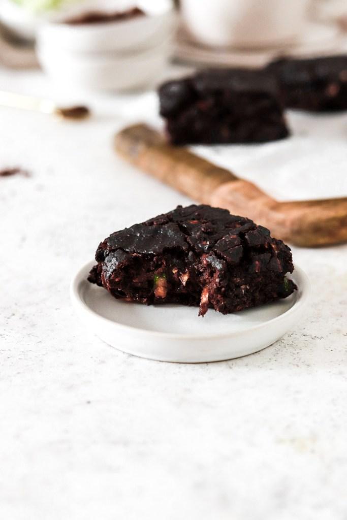 Zucchini Chocolate Cake (Gluten & Sugar Free) Close Up