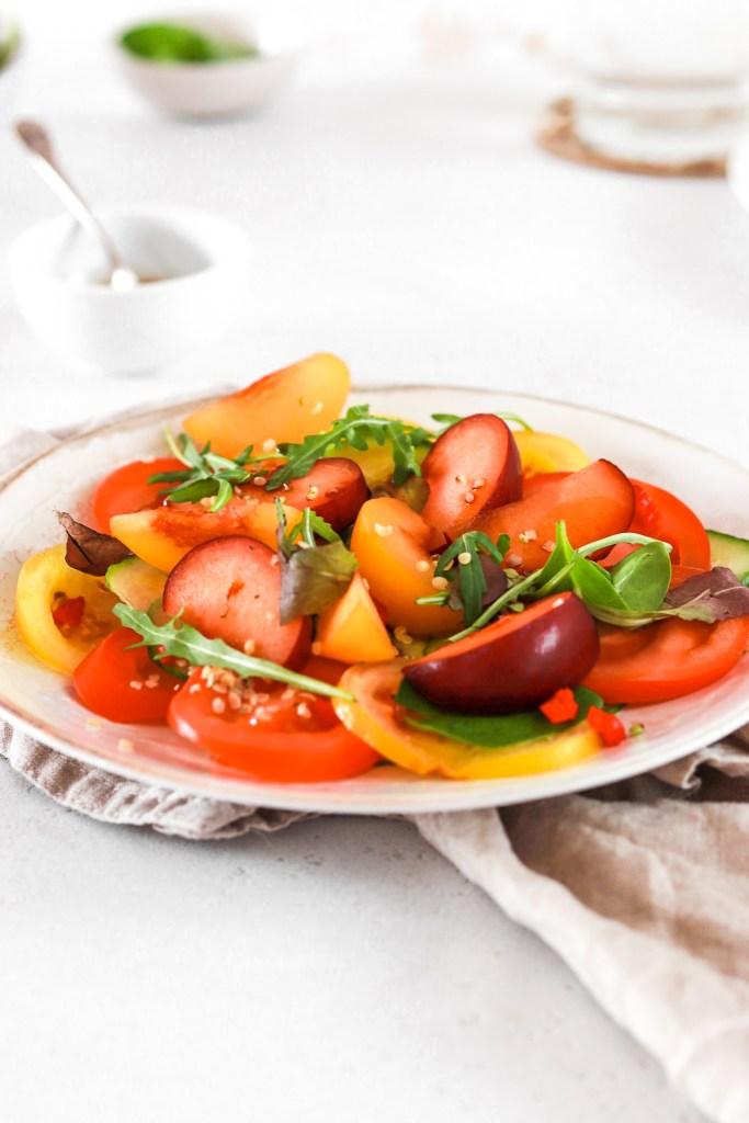 Tomato & Plum Salad (Vegan, Gluten & Grain Free) From Front