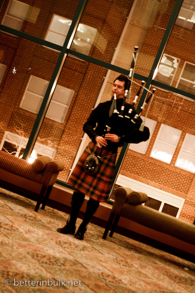 Celtic Woman bagpipe player