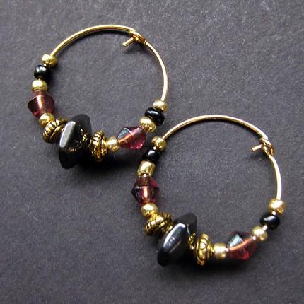 hoop earrings by Bits n' Beads