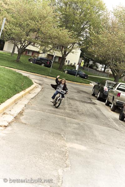 Riding a two-wheeler
