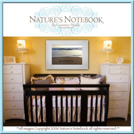 natures notebook framed name