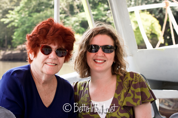 Lolli and Mother in law on boat in Costa Rica