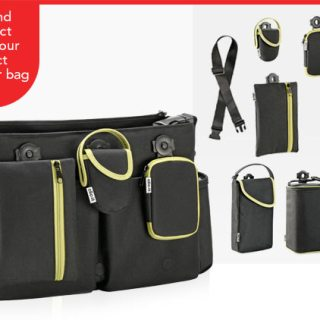 clic it diaper bag system + accessories