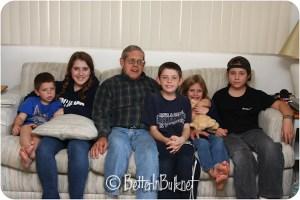 Early birthday celebration with Grandpa