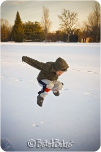 jump in the snow